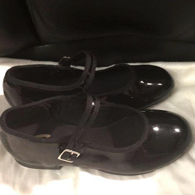 NIB Capezio 625 Pat Jr Tyette Black Patent Tap Shoe Size 4N 4 N Narrow