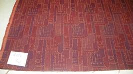 Burgundy Brick Abstract Print Upholstery Fabric  1 Yard  R225 - $26.95