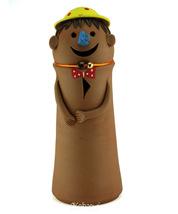 ekolhapuri Big Smily Face Doll Natural Color Teracotta Show Piece - $41.00