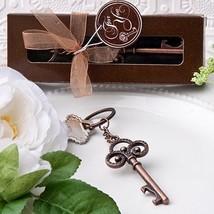 1 Vintage Skeleton Key Style Wedding Themed Keychain Chain Favor Party Bridal - $1.96