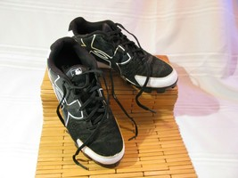 Armour Bound Black & White Athletic Cleats Rotational traction Men's size 6.5 - $17.81