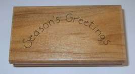 Season's Greetings Rubber Stamp Close To My Heart Wood Mounted Christmas  - $4.45
