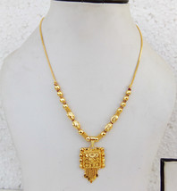 Ethnic South Indian Gold Plated Necklace Bridal Fashion Jewelry Chain pe... - $9.49