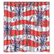 Floral Pattern She a Firecracker Shower Curtain Waterproof Made From Pol... - $29.07+