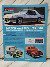 Monogram 1987 form 1pg advertisement sprint car BMW 635 mustang Ford panel (A10) - $9.90