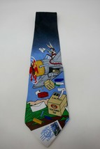 Looney Tunes 1997 Stamp Collection Bugs Bunny Drops Mail Novelty Necktie - $9.49