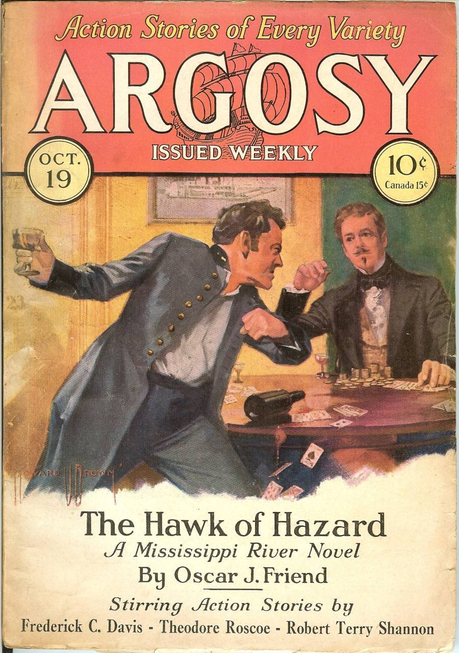 Primary image for argosy magazine october 19 1929 poker playing cards gambling rare weekly