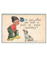 Bernard Wall Dutch Kid Boy Puppy Dog Vintage 1912 Samson Bros A/S Postcard  - $4.95