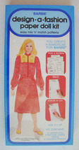 Barbie Design A Fashion Paper Doll Kit ~ NEW & ... - $17.41