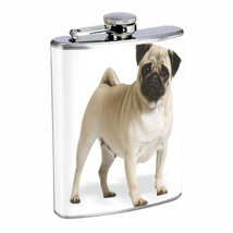 Dog pug 03 Stainless Steel Flask 8oz Cute Pug Dog Animal Pet Puppy Whisk... - €10,41 EUR