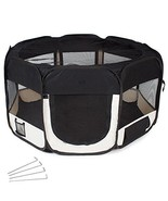 Puppy Play Pen Indoor Foldable Pet Cat Dog Rabbit Play Yard Cage 125 x 1... - $55.18