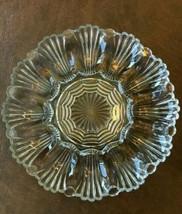 """Anchor Hocking 896 10"""" Clear Glass Deviled Egg Serving Platter Tray Vintage - $19.16"""