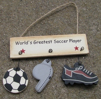 Primary image for 1200E-Worlds Greatest Soccer Player Wood Sign