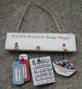 Primary image for 1500N-Worlds Greatest Bingo Player Wood Sign