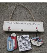 1500N-Worlds Greatest Bingo Player Wood Sign  - $1.95