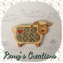 Sheep Wooden Stitchable Kit cross stitch kit Romy's Creations  - $12.00