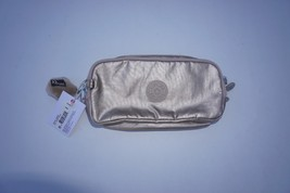 Kipling Zaiden cosmetic bag pouch two zip compartments in Toasty Gold NWT - $39.55