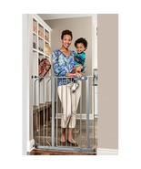 Regalo Easy Step Extra Tall Metal Walk Thru Baby Gate Safety gate, Platinum - $42.99