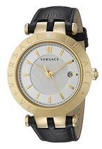 Versace VQP040015 V-race Gold IP Stainless Steel Men's Watch - $2,577.84