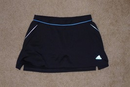 Adidas Women's Skort, Medium, Black & Teal Blue - $9.89