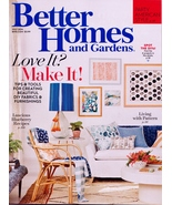 Better Homes and Gardens July 2016 NEW, no address label, DIY Fabrics & ... - $4.75