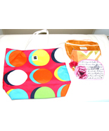 Cosmetic Bags Makeup Travel Beach 4 Bags Lancome Estee Lauder Clinique E... - $10.99