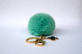 Pom-Perfect Candy Green REX Rabbit fur pom pom ... - $16.99