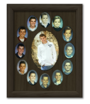 "School Years Picture Frame Oval 2.5"" x 3.5"" Espresso  - $49.95"