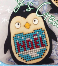 Penguin EXCLUSIVE Wooden Stitchable Kit cross stitch kit Romy's Creations  - $14.00