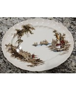 "Vintage Johnson Brothers The Old Mill Brown Serving Platter 15 3/8"" - $61.75"