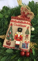 FABRIC/FLOSS bundle (32ct cocoa linen/WDW floss) A Nutty Christmas cross stitch  - $8.50