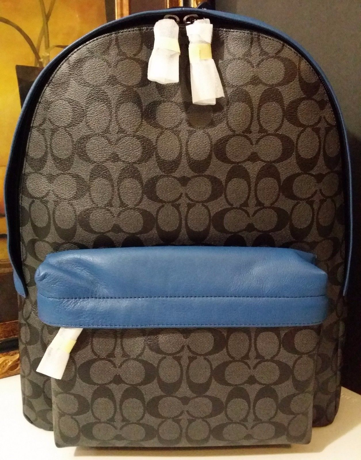 NWT COACH CAMPUS BACKPACK SIGNATURE PVC F71973 CHARCOAL/DENIM $495