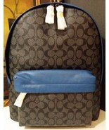 NWT COACH CAMPUS BACKPACK SIGNATURE PVC F71973 CHARCOAL/DENIM $495 - $272.25