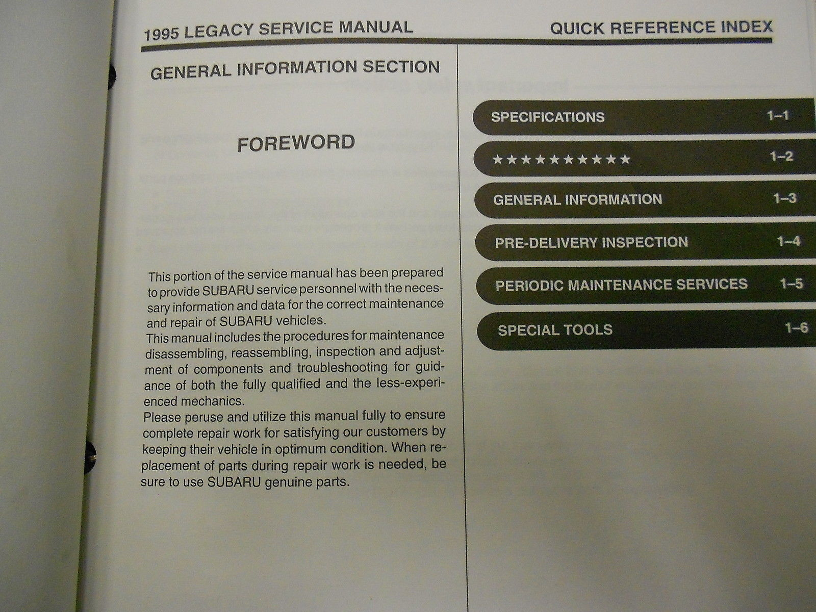 1995 Subaru Legacy Service Repair Shop Manual SET FACTORY OEM BOOKS Used Binder