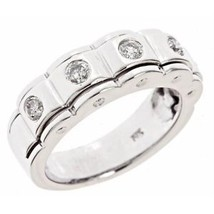 0.40ct G-SI Vintage Design Round Diamond Womens Wedding Band Ring 14k Wh... - £944.84 GBP