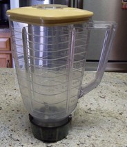 Vintage Osterizer Plastic Jar With Lid Fits Model 828 5 Cup Pitcher Parts - $12.19
