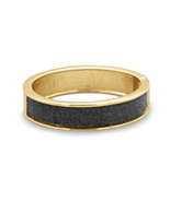 Dark Grey Sparkle Gold Tone Hinged Bangle Brace... - $14.87