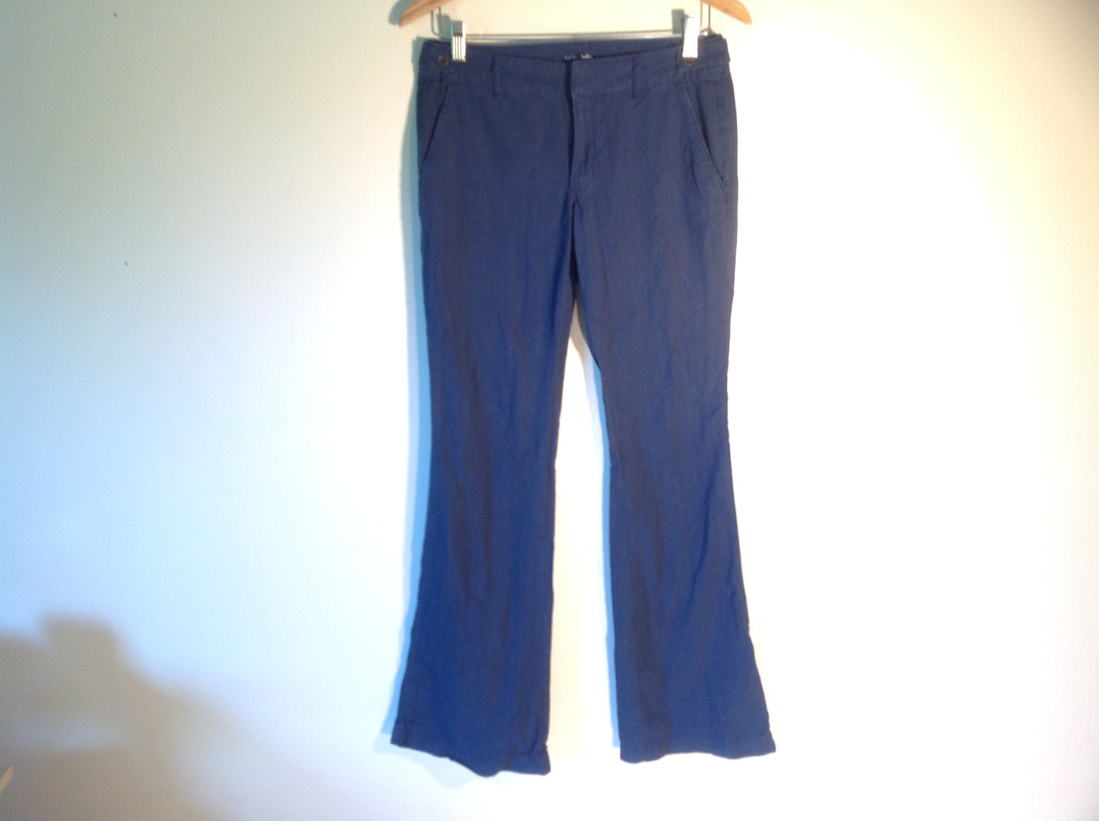 "GAP Women's Size 6 ""Hadley"" Pants Dark Navy Blue Cotton Casual Slacks Boot Cut"