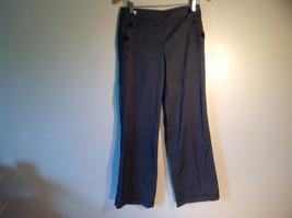 Larry Levine Women's Size 4 Casual Pants Dark Gray Weave Straight Leg w/ Pockets image 1