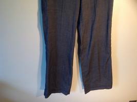 Larry Levine Women's Size 4 Casual Pants Dark Gray Weave Straight Leg w/ Pockets image 3
