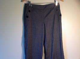Larry Levine Women's Size 4 Casual Pants Dark Gray Weave Straight Leg w/ Pockets image 2