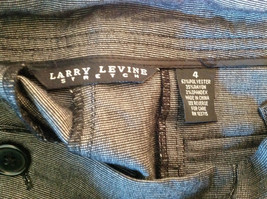 Larry Levine Women's Size 4 Casual Pants Dark Gray Weave Straight Leg w/ Pockets image 8