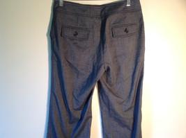 Larry Levine Women's Size 4 Casual Pants Dark Gray Weave Straight Leg w/ Pockets image 5