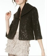 NWT Alice Olivia Keri cropped shawl collar sequ... - $220.00
