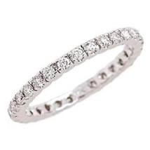 0.75 Carat F-VS Diamond Anniversary Wedding Eternity Band Ring 14k White... - £649.85 GBP