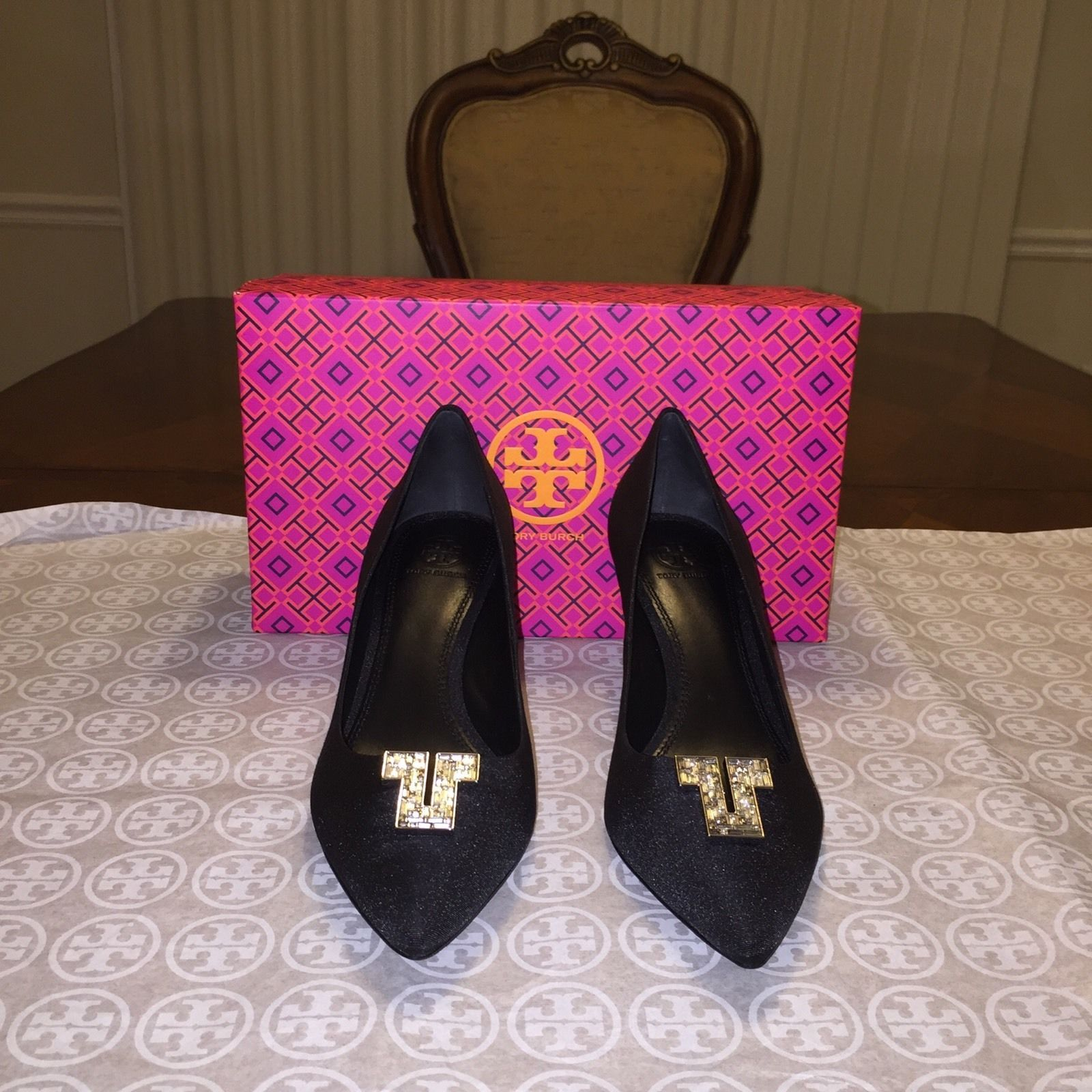 9c0b6e971da2 NIB Tory Burch Deco-T Pump Black Size 9.5 and 50 similar items