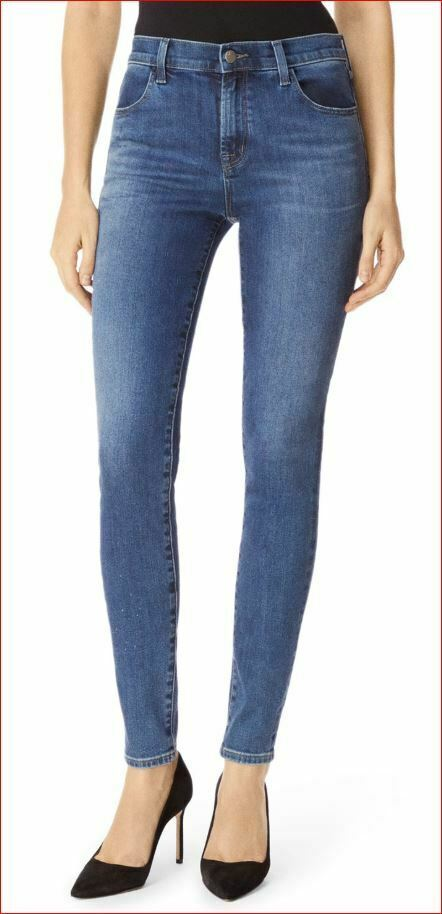 Neuf J Brand Femme Jeans Skinny Maria 23110O212 Divulgation Bleu Sz 22 Pdsf