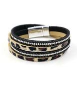Bracelet Fashion Leopard Pringtting Shinning Long Leather Bracelet New G... - $6.23