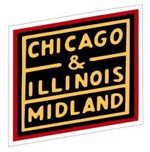 Chicago & Illinois Railway Sticker R6988 Railroad Train Sign YOU CHOOSE SIZE - $1.45+