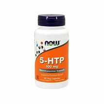 NEW Now 5-HTP 100 mg Supports Positive Mood Relaxation Vegan 60 Veg Caps... - $16.73